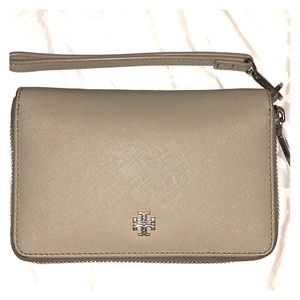Authentic Grey Heron Tory Burch Wallet